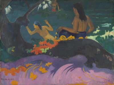 Obraz Paul Gauguin - Fatata te Miti. Na brzegu morza