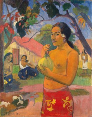 Obraz Paul Gauguin - Kobieta trzymająca owoc