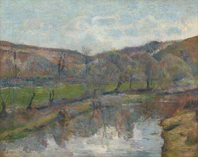 Obraz Paul Gauguin - Krajobraz Bretanii