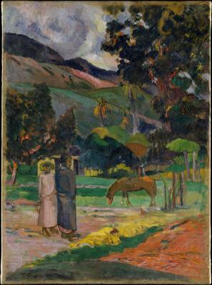 Obraz Paul Gauguin - Krajobraz Tahiti