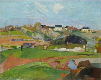 Obraz Paul Gauguin - Krajobraz w Le Pouldu