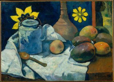 Obraz Paul Gauguin - Martwa natura z czajnikiem i owocami