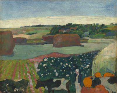 Obraz Paul Gauguin - Stogi siana w Bretanii