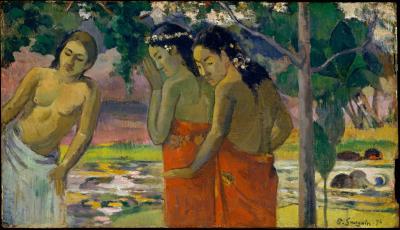 Obraz Paul Gauguin - Trzy tahitańskie kobiety