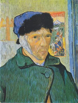 Obraz Vincent van Gogh - Autoportret z zabandażowanym uchem