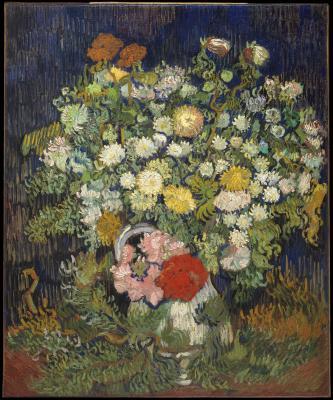 Obraz Vincent van Gogh - Bukiet kwiatów w wazonie
