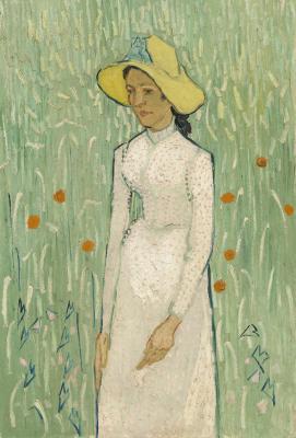 Obraz Vincent van Gogh - Dziewczyna w bieli