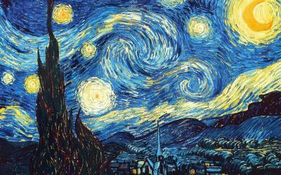 Obraz Vincent van Gogh - Gwiaździsta noc