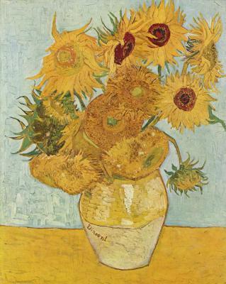 Obraz Vincent van Gogh - Martwa natura. Wazon z dwunastoma słonecznikami