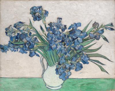 Vincent van gogh - martwa natura. wazon z irysami