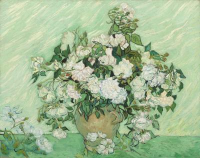 Vincent van gogh - martwa natura. wazon z różami