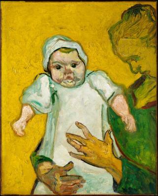 Obraz Vincent van Gogh - Pani Roulin z synkiem Marcellem