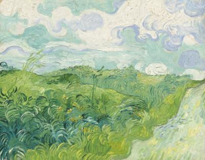 Vincent van gogh - zielone pola