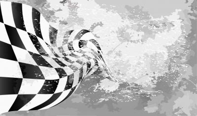 Fototapeta Checkered race flag Racing flags