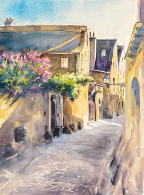 Obraz Small narrow street in the old city of Le Mans France