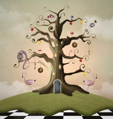 Obraz Wonderland series Tree of life house
