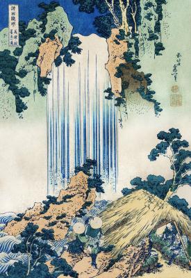 Hokusai  - wodospad yoro w prowincji mino