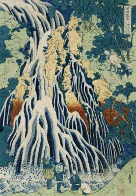 Obraz Hokusai - Shimotsuke Kurokami-Yama Kurifuri no Taki