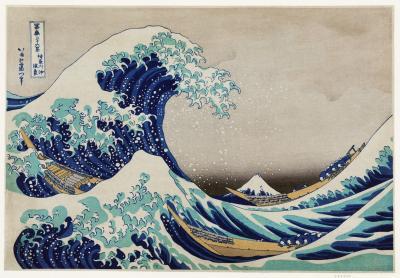 Obraz Hokusai - Wielka fala w Kanagawie
