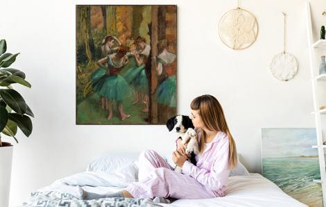Obraz Tancerki w różu i zieleni