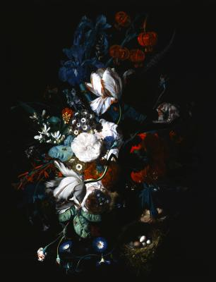 Fototapeta Bukiet z granatowymi akcentami