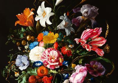 Fototapeta Kompozycja kwiatów z tulipanem