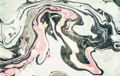 Fototapeta Marmurowa zieleń i róż