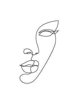 Plakat Kobieca twarz