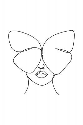 Plakat Motyl na kobiecej twarzy