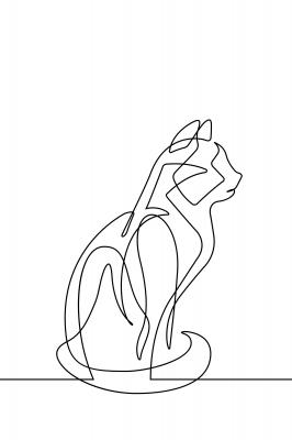 Plakat Siedzący kot