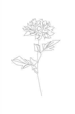 Plakat Szkic kwiatu