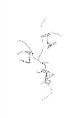 Plakat Zmysłowy pocałunek