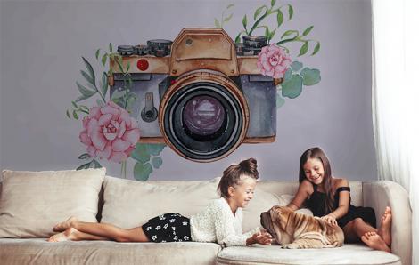 Naklejka do salonu z aparatem fotograficznym
