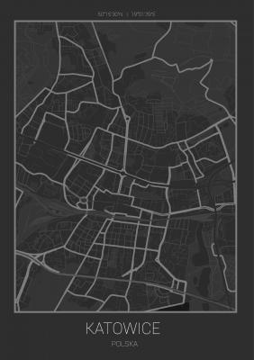 Plakat Plan Katowic
