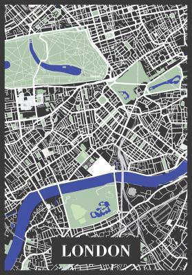 Plakat Plan Londynu