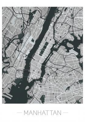 Plakat Plan Manhattanu
