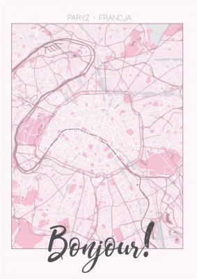 Plakat Plan Paryża