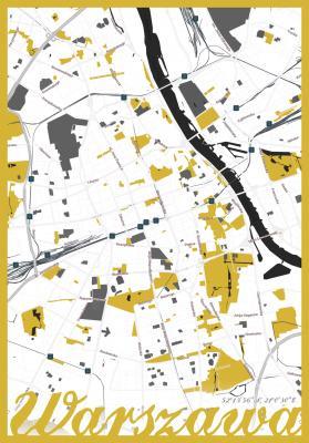 Plakat Plan Warszawy