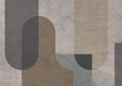 Fototapeta Bloki geometryczne w odcieniach brązu z efektem betonowej tekstury