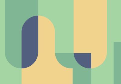 Fototapeta Bloki geometryczne w odcieniach zieleni i żółci