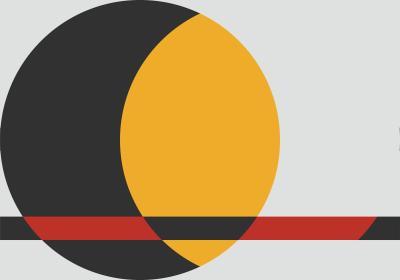 Fototapeta Czarno-żółte koło z elementem czerwieni