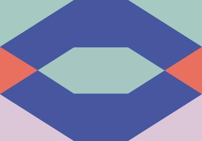 Fototapeta Figury geometryczne z dominacją fioletu