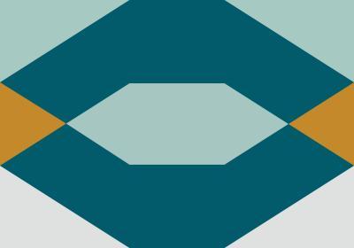 Fototapeta Figury geometryczne z dominacją turkusu
