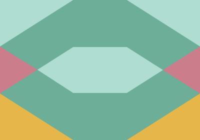 Fototapeta Figury geometryczne z dominacją zieleni