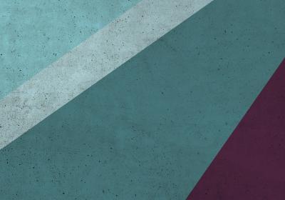 Fototapeta Geometryczny blok z fioletowym detalem o fakturze betonu