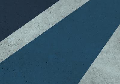 Fototapeta Geometryczny blok z granatowym detalem o fakturze betonu