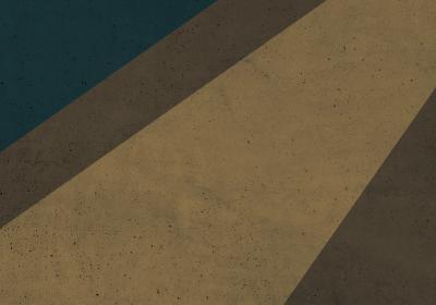 Fototapeta Geometryczny blok z zielonym detalem o fakturze betonu