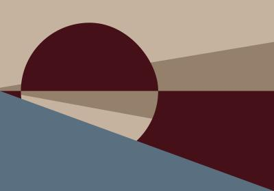 Fototapeta Koło i trójkąty w kolorach jesieni