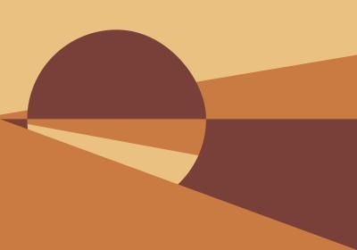 Fototapeta Koło i trójkąty w odcieniach pomarańczu