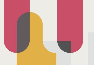 Fototapeta Kolorowa geometria na białym tle